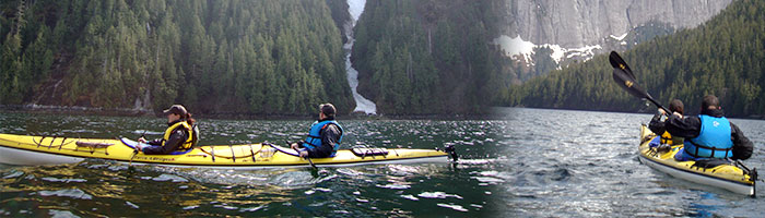 kayaking through the Misty Fjords