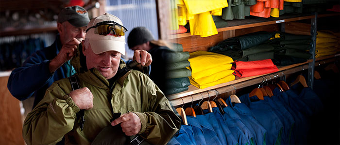 Fishing in Alaska Outfitting room for Baranof Fishing