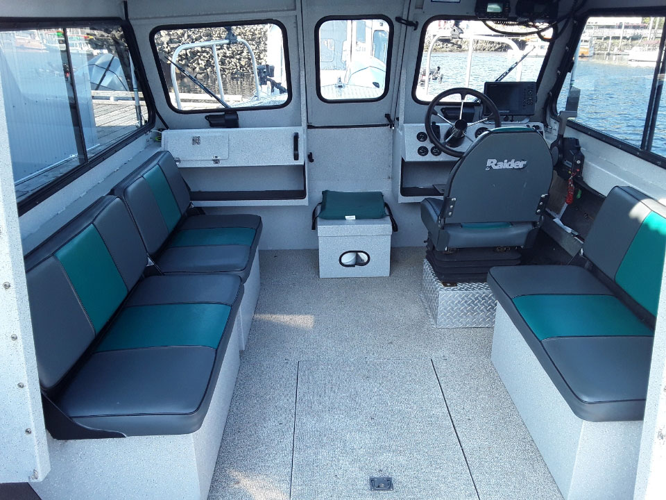 Interior shot of boat ak8409 toward the front