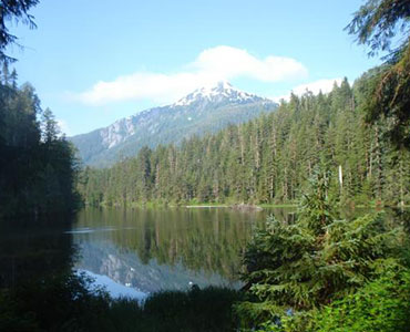 Situated on the north end of Wilson Lake 44 air miles east of Ketchikan