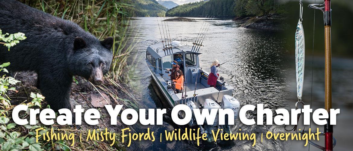Design your own private charter to explore the beauty of Southeast Alaska
