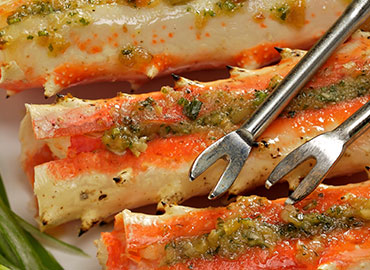 GINGER SCALLION PESTO KING CRAB Photo
