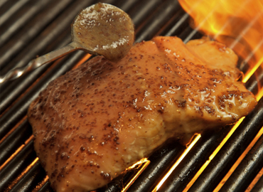 GRAINY MUSTARD GLAZED GRILLED SALMON Photo